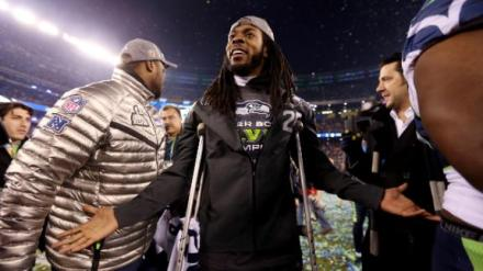 Picture of Richard Sherman, Stanford-Educated NFL Seahawks Corner Back Injured